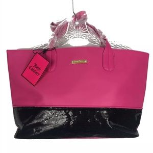 Juicy Couture Colorblock Sequin Tote Large Bag NEW